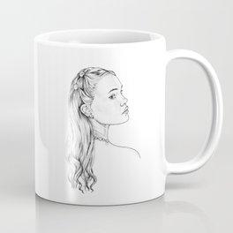 Opal Mermaid Portrait - October Mermaid Coffee Mug