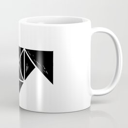 Hand Made Squares, Triangles with Ink on Paper Coffee Mug