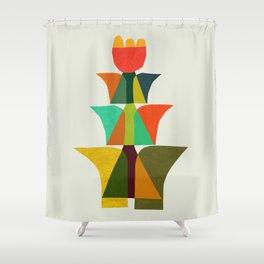 Whimsical bromeliad Shower Curtain