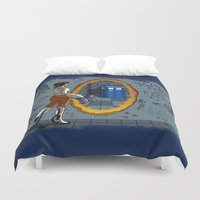 aperture Duvet Covers featuring In Need of a Companion by Miss-Lys