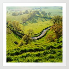 The Bend In The Road Art Print