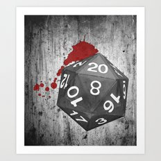 Dirty Dice Art Print