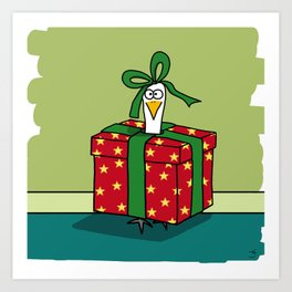 Eglantine la poule (the hen) is a gift Art Print