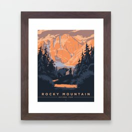 Rocky Mountain National Park Poster Framed Art Print