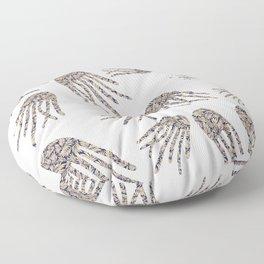 Black and White Jellyfish Digital Pattern, by Eau de Papier Illustration Studio and Design Floor Pillow