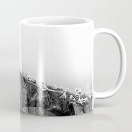 Gulls on The Cliff - Scene in Black and White #decor #society6 #buyart Coffee Mug