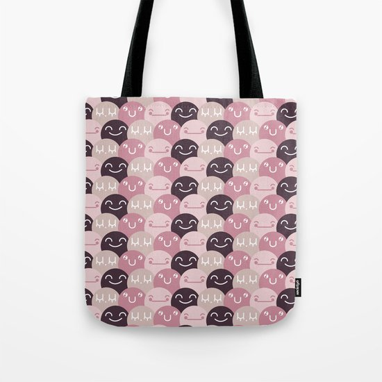 Pattern Smile Tote Bag