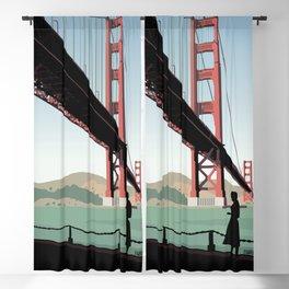 Vertigo Bridge Illustration Blackout Curtain