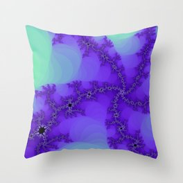 Spiral Waves Fractal Throw Pillow