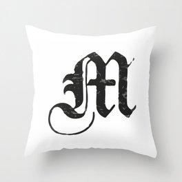 M Throw Pillow