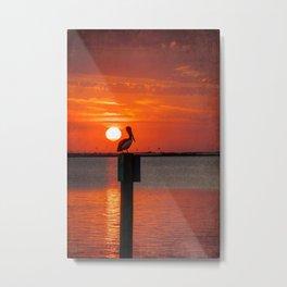 Sunset Watcher Metal Print