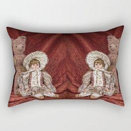 Memories of Childhood Teddy Bear and Doll Rectangular Pillow