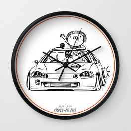 Crazy Car Art 0202 Wall Clock