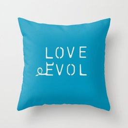 Love Can Be EVOL Throw Pillow