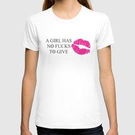 No fucks T-shirt