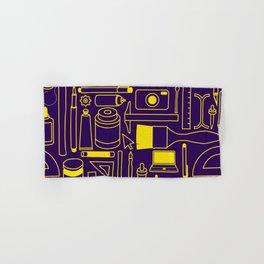 Art Supplies - Eggplant and Yellow Hand & Bath Towel