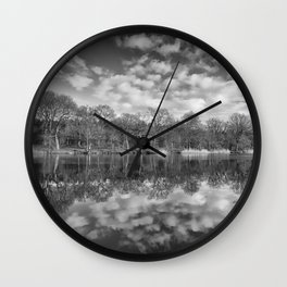 Late Winter Reflections Wall Clock