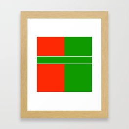 Team Color 6...green,red Framed Art Print