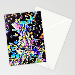 Strontium Platino Cyanide Crystals Stationery Cards