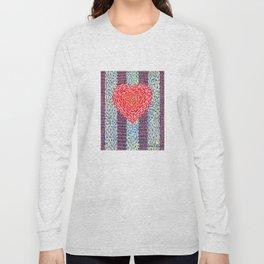 High Energy Squiggle Heart - Impressionist Heart Art Long Sleeve T-shirt