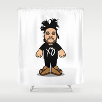 hiphop Shower Curtains featuring Abel by Michael Walchalk