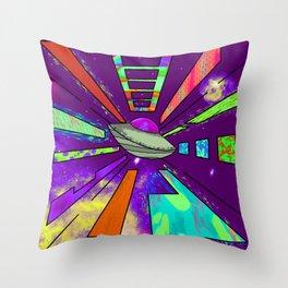 Space Cruising Recolored Throw Pillow