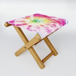 Tie-Dye Sunburst Rainbow Folding Stool