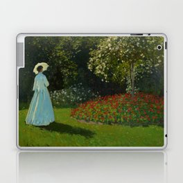 Lady in the garden Laptop & iPad Skin