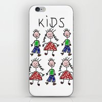 kids iPhone & iPod Skins featuring Kids by Digital-Art