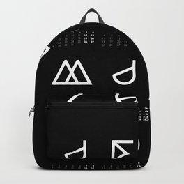 Geometrical Calendar black Backpack