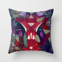 reflective torsion Throw Pillow