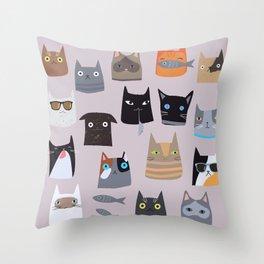 Cats comunity Throw Pillow
