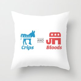 Crips and Bloods Throw Pillow