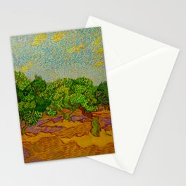 Olive Orchard November Oil Painting by Vincent van Gogh Stationery Cards