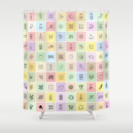 100 Days of Groceries Shower Curtain