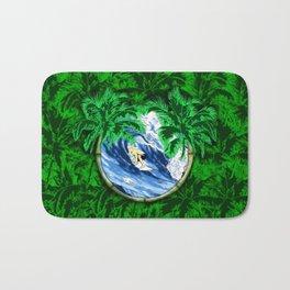 Tropical Surfer Bath Mat