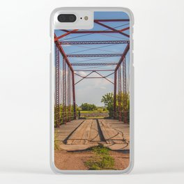 Stephens Bridge, North Dakota, 12 Clear iPhone Case