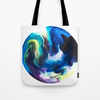 dragon ball Tote Bags featuring Ball by Chimisay