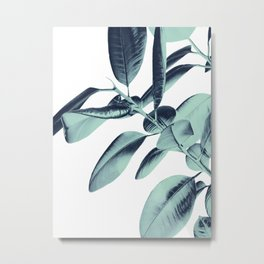 Ficus Elastica Beach Vibes #1 #foliage #decor #art #society6 Metal Print