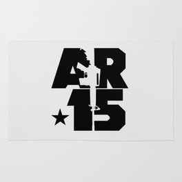 AR-15 (Silver/Black) Rug