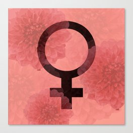 Female Symbol Canvas Print