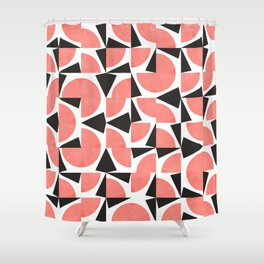 Coral Red Mess Shower Curtain
