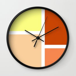 Orange and yellow rectangles Wall Clock