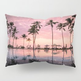 Pastel Sunset Palms Pillow Sham