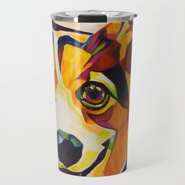 Pop Art Corgi Travel Mug