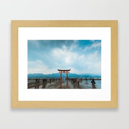 Adventure in Miyajima's Floating Torii, Japan Framed Art Print
