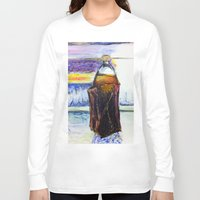 oz Long Sleeve T-shirts featuring 40 oz by JStudio Art