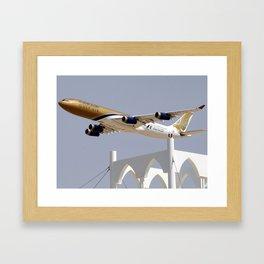 Gulf Air A340 Framed Art Print