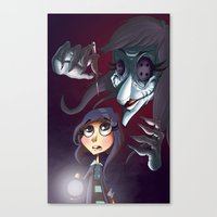 coraline Canvas Prints featuring Coraline by Phil Vazquez