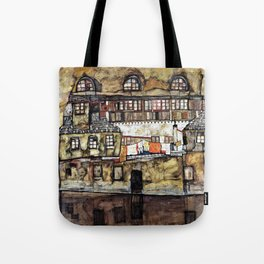 House Wall on the River - Digital Remastered Edition Tote Bag